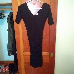 James Perse stretchy black dress